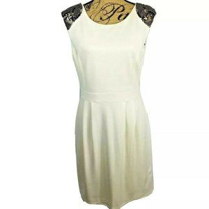 Gianni Bini White Sheath Dress size 8 Sequins